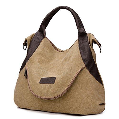 de Grande de Capacidad Capacidad del la A 5 1 Bolso de Retro del Color Hombro la Las Lona Mensajero Bolso Diagonal Bolso la Mujeres Handbag Sola de xpq6w