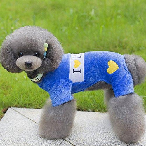 Tutuba Autumn Winter Pet Dog Cat Fleece Warm Plush Coat Jampsuit Romper For Sale