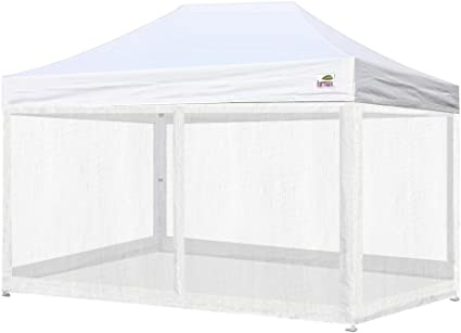 Amazon Com Eurmax 10x15 Feet High Commerial Grade Pop Up Canopy Instant Shelter Outdor Party Tent Gazebo With 4 Removable Zipper Screen Sidewalls Bonus Roller Bag White Sports Outdoors
