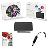 Wacom Intuos Creative Pen Tablet Small, Black Bundle Includes Tablet, Corel Paint Shop Pro X9 Digital Download Card and Wacom Bamboo Stylus Mini (CTL4100)