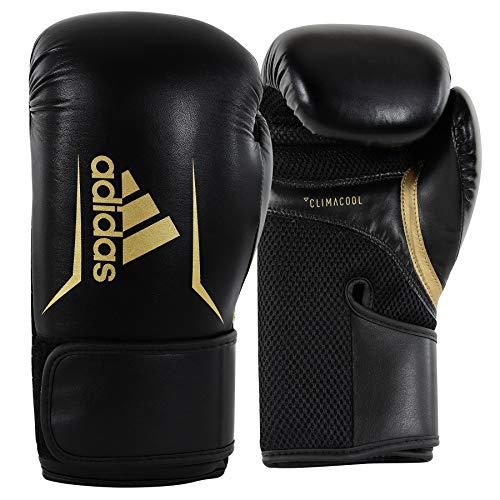 adidas Speed 100 Black/Gold Boxing Gloves - 10oz