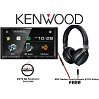 Kenwood eXcelon DDX794 DVD Receiver w/ Built in Bluetooth and KH-KR900 On Ear Headphones with a FREE SOTS Air Freshener Package