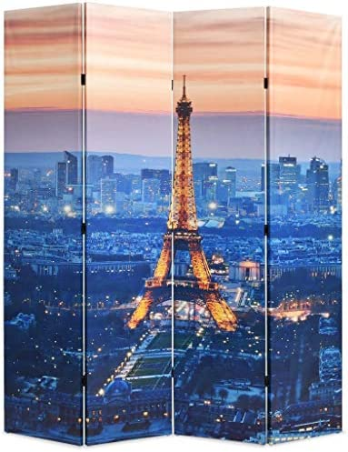 Vislone Plegable Biombos Diseño de París de Noche Biombo Divisor ...