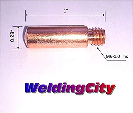 0.030 WeldingCity 25-pk MIG Welding Heavy Duty Contact Tip 11H-30 for Lincoln Tweco MIG Guns 100L Mini