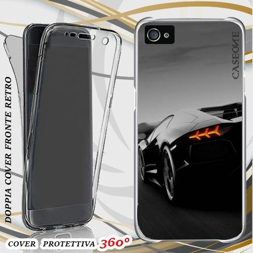 CUSTODIA COVER CASE PERFECT CAR PER IPHONE 4 FRONT BACK