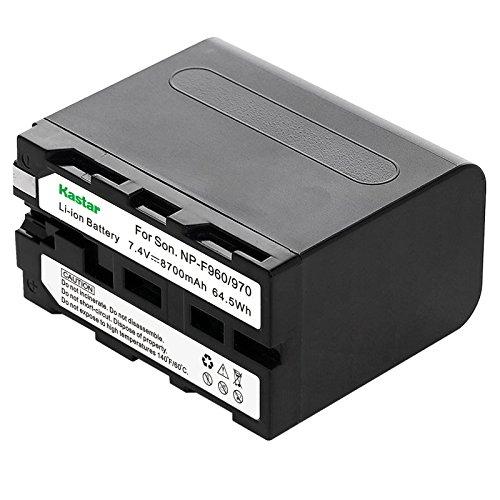 Kastar Battery (1-Pack) for Sony NP-F970 NP-F960 F970 F960 F975 F950 and DCR-VX2100 HDR-AX2000 FX1 FX7 FX1000 HVR-HD1000U V1U Z1P Z1U Z5U Z7U HXR-MC2000U FS100U FS700U and LED Video Light by Kastar