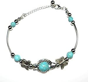 Sweepstakes: MIFASOO Natural Turquoise Carved Butterfly...