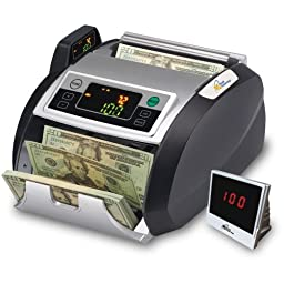 Royal Sovereign RBC-2100 Electric Bill Counter with External Display and Counterfeit Detection, 1000 bill/min Speed