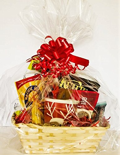 Deluxe Christmas Holiday Large Gluten Free Gourmet Gift Basket with Wooden Nutcracker and Stoneware Mug