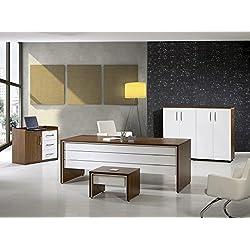 "Mare Collection Modern Lexus 4 Piece Desk Home Office Suite Furniture Set 79"" Panama White"