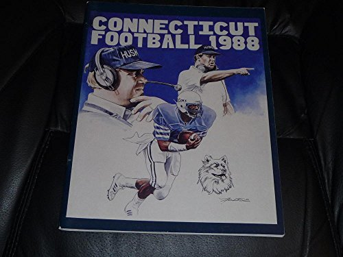 (1988 UCONN CONNECTICUT COLLEGE FOOTBALL MEDIA GUIDE EX-MINT BOX 35)