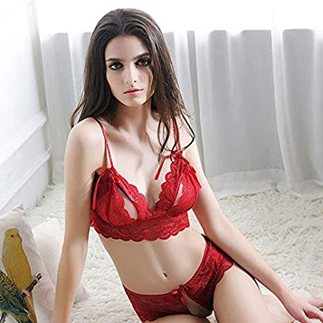 Hongtianyuan Ropa Interior, Ropa Interior Mujer, Ropa Interior Sexy Mujer, Tentation chaude Bikini Sexy Onesies Costume (Rojo): Amazon.es: Ropa y accesorios