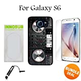 DJ controller Mixer Custom Galaxy S6 Cases-Black-Plastic,Bundle 3in1 Comes with HD Tempered Glass/Universal Stylus Pen by innosub
