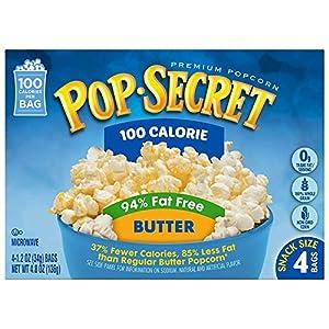 Pop Secret 94% Fat Free Butter Popcorn, 100 Calorie Pop, 4-Count