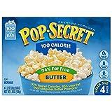 microwave fat free popcorn - Pop Secret 94% Fat Free Butter Popcorn, 100 Calorie Pop, 4-Count