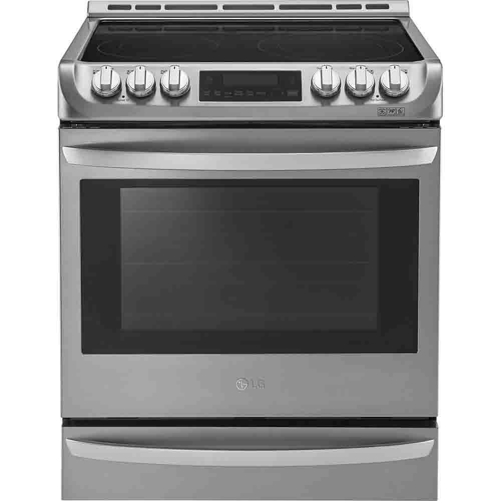 LG LSE4613ST 30'' Stainless Steel Electric Slide-In Smoothtop Range - Convection