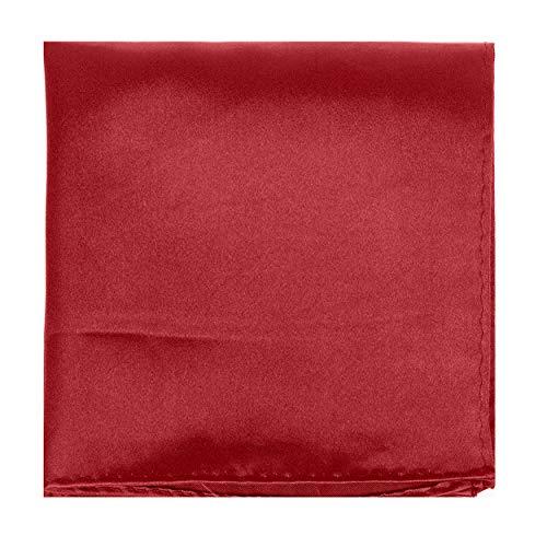 Hanky Plain Polyester Maroon Square Pocket Colour Satin Solid Handkerchief qfZFUY