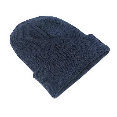de gris azul Punto Gorro para WSUK Hombre 50qYRAw