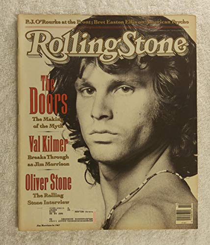 Val Kilmer as Jim Morrison - The Doors - The Making of The Myth - Rolling Stone Magazine - #601 - April 4, 1991 - Oliver Stone Interview, Iraq article
