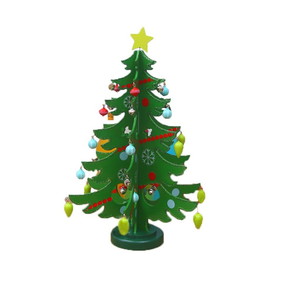 YIR Wooden Christmas Tree Decoration Window Desktop Props Children Christmas Gifts Christmas Supplies Christmas Decorative Trees