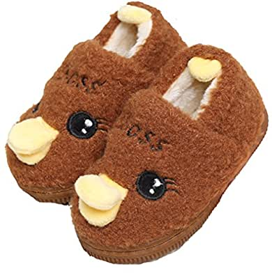 toddler duck plush cute slipper house shoes bedroom slippers