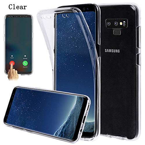 Galaxy Note 9 Case,AMASELL 360 Coverage Full Body Protective Shell Shockproof Front and Back Crystal Soft Silicone Rubber Case Cover for Samsung Galaxy Note 9
