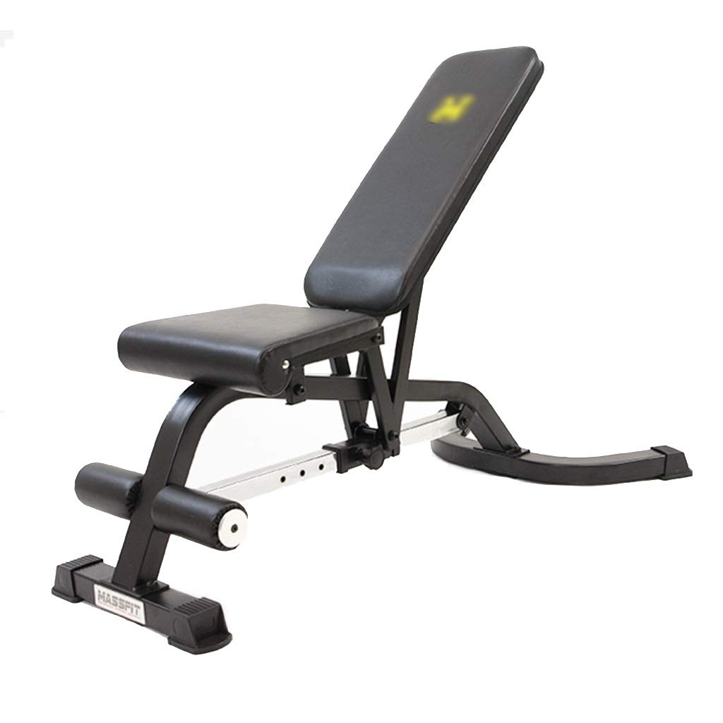 Black 14512082cm Professional Dumbbell Bench Commercial Adjustable Bench Home Training Gym Tilted Bench Abdominal Board Situp Weight Table Standard Weight Benches (color   Black, Size   145  120  82cm)