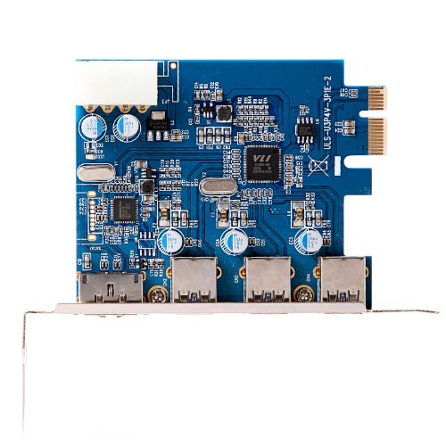 Kingzer USB 3.0 PCI-E PCI Express Card 4Port with 4-pin IDE Power Connector ESATA III from KINGZER