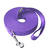 #5: Siumouhoi Dog/Puppy Subject to Recall Training and Behavior Training Aided Rope-20 Feet Purple -Training, Extended Rope for Training. (20Feet, Purple)
