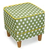 Children's Stool European Footstool Creative Bedroom Stool Fabric Sofa Stool Shoe Bench Bed Stool Dressing Stool Solid Wood Stool Living Room Stool Coffee Table Stool 3740cm (Color : 5)
