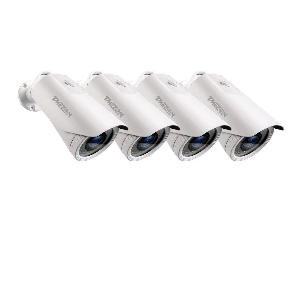 TMEZON AHD防犯カメラ「200万画素 赤外線LED42個 2.8-10MM手動調節可能レンズ」 (4台カメラ) B07F7ZQL8B 4台カメラ 4台カメラ