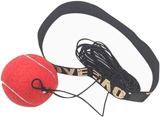 Erthome NEUF Fight Boule avec bandeau pour reflex Vitesse de boxe d'entraînement de boxe Punch d'exercice (B)