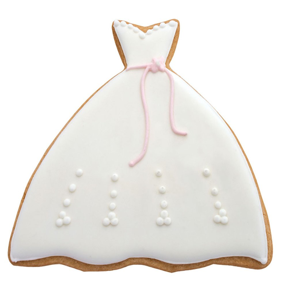 Amazon.com: Gown Cookie and Fondant Cutter - Ann Clark - 4.8 Inches ...