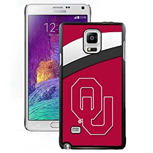 Fashionable And Unique Custom Designed With NCAA Big 12 Conference Big12 Football Oklahoma Sooners 2 Protective Cell Phone Hardshell Cover Case For Samsung Galaxy Note 4 N910A N910T N910P N910V N910R4 Black