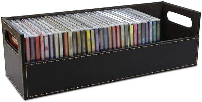 Yongse CD DVD Discos Caja de Almacenamiento Estuche Estuche Estante de apilamiento Bandeja Estante Organizador de Espacio: Amazon.es: Electrónica