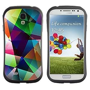 "Pulsar iFace Series Tpu silicona Carcasa Funda Case para SAMSUNG Galaxy S4 IV / i9500 / i9515 / i9505G / SGH-i337 , Arte Formas colores pastel brillante"""