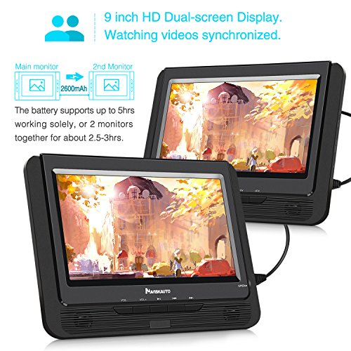 Buy dual screen portable dvd player for car