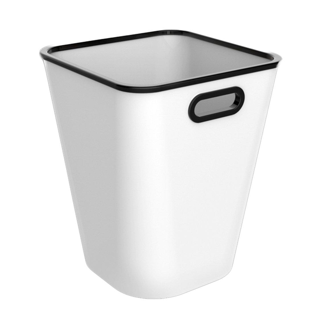 LoKauf 16L Waste Paper Bin Large Capacity Pressing Ring Plastic Trash Can Household Garbage Storage Bin