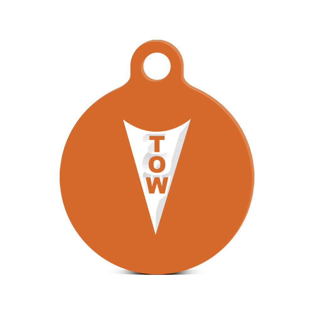 牽引フックラウンドキーチェーンwithタブ刻印アソートカラーSCCA NHRAポイント安全 オレンジ ROUNDfaS150-ORG B016ZAXXWK オレンジ