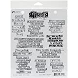 Ranger Dyan Reaveleys Dylusions Cling Stamp Collection The Right Words (8 Pack)
