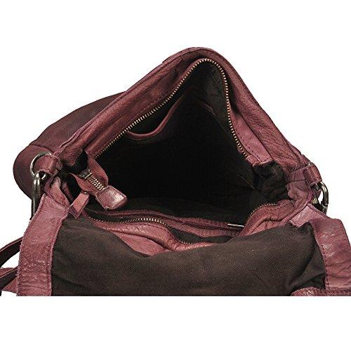 """Vilenca """"40696 Raspberry"""" Signore borsa a tracolla, borsa di cuoio per le donne, Dimensioni- L30cmxH22cmxB8cm"""