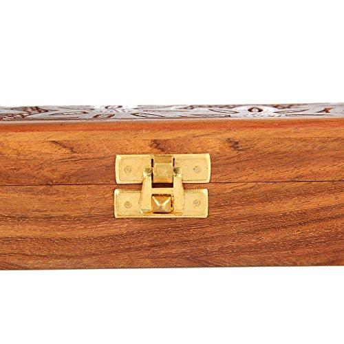 ShalinIndia Handmade Indian Wood Jewelry Box - Jewelry Box for Girls and Ladies - Gifts for Girlfriend by ShalinIndia (Image #3)