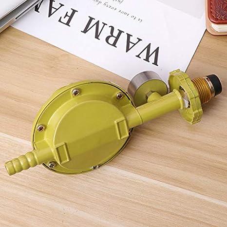 ULTECHNOVO Propane tanks gas regulator with pressure gauge manometer for bbq camping cookers caravan plumber