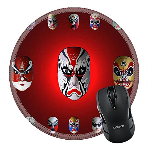 MSD Natural Rubber Mousepad Round Mouse Pad/Mat: 11916911 mask of chinese traditional (Chinese Ancient Costume Drama)