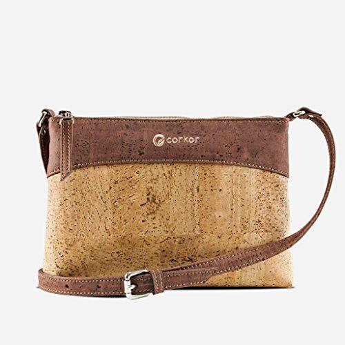 Corkor Adjustable Leather Red Cork Women Handbag Crossbody Natural Vegan Purse Bag Strap X1pqrXwx