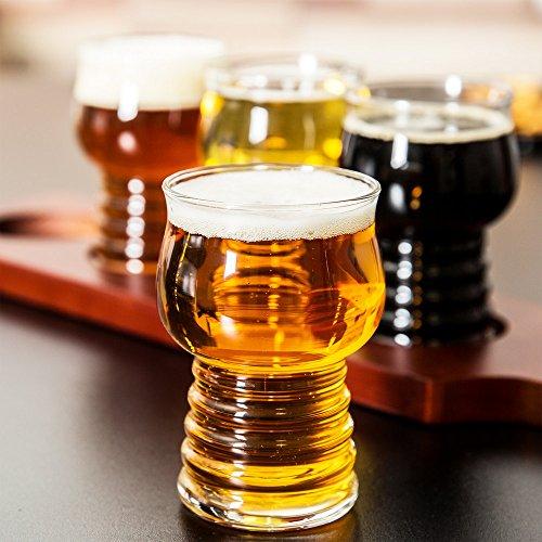 Hard Crafts (Set of 6 Libbey 540 Hard Cider / Craft Beer Tasting 5 oz Glass w/ Signature Party Picks)