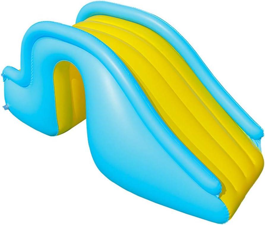 Aufblasbare Wasserrutsche,Fulltime Kinder Pool Rutsche Gl/ückliche Home Indoor Aufblasbares Spielzeug+Manuelle Luftpumpe