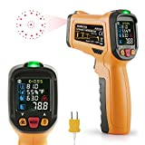 Infrared thermometer Janisa AD6530D Digital Laser Non Contact Thermometer Temperature Gun Circle Color Display -58°F to 1472°F With 12 Point Aperture Temperature Alarm Function