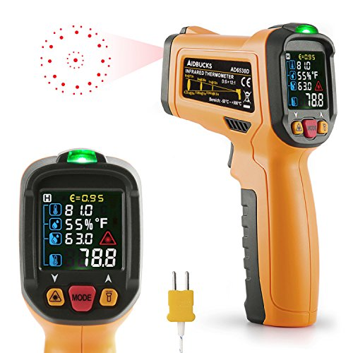 Infrared thermometer aidbucks ad6530d digital laser non for Thermometre laser cuisine