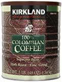 Signature 100 Percent Colombian Coffee Supremo Bean Dark Roast-Fine Grind, 3 Pound (Pack of 6)